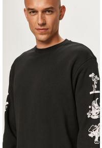 Czarna bluza nierozpinana adidas Originals z okrągłym kołnierzem, z nadrukiem