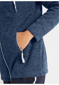 Niebieska bluza bonprix z kapturem, z długim rękawem