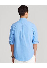 Ralph Lauren - RALPH LAUREN - Niebieska koszula Oxford Slim Fit. Okazja: na co dzień. Typ kołnierza: polo. Kolor: niebieski. Materiał: bawełna. Wzór: haft. Styl: casual