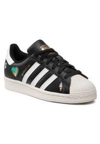 Adidas - Buty adidas - Superstar J FX5880 Cblack/Ftwwht/Cwhite. Zapięcie: sznurówki. Kolor: czarny. Materiał: skóra. Szerokość cholewki: normalna. Sezon: lato. Styl: młodzieżowy