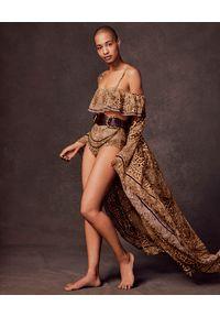 Camilla - CAMILLA - Top od bikini Lady Lodge. Kolor: brązowy. Materiał: tkanina