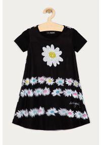 Czarna sukienka Desigual oversize, z krótkim rękawem