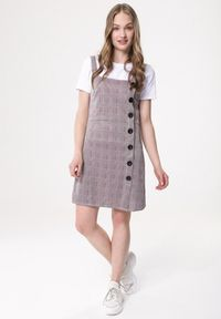 Szara sukienka mini Born2be