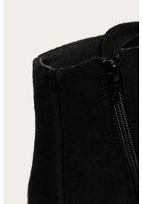 Czarne botki Camper na sznurówki, z cholewką, bez obcasa