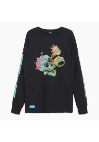Cropp - Koszulka longsleeve Rick and Morty - Czarny. Kolor: czarny. Długość rękawa: długi rękaw