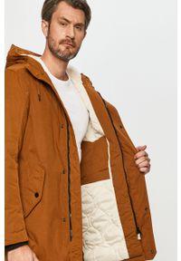 Brązowa kurtka Tom Tailor Denim na co dzień, z kapturem, casualowa