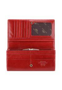 Wittchen - Damski portfel skórzany duży poziomy. Kolor: czerwony. Materiał: skóra