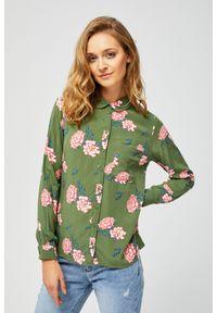MOODO - Koszula z motywem kwiatów. Materiał: wiskoza. Długość rękawa: długi rękaw. Długość: długie. Wzór: kwiaty