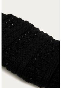Czarne rękawiczki Morgan z aplikacjami