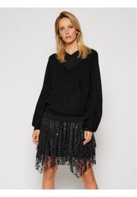 Czarny sweter klasyczny Silvian Heach na lato