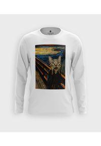 MegaKoszulki - Koszulka męska z dł. rękawem Cat scream painting. Materiał: bawełna