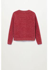 Czerwony sweter Mango Kids casualowy, na co dzień
