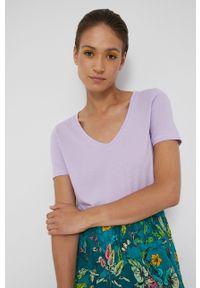 medicine - Medicine - T-shirt Basic. Kolor: fioletowy. Materiał: bawełna, dzianina, włókno