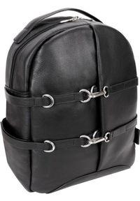 """Plecak Oakland Skórzany plecak miejski Oakland czarny ze skóry naturalnej na laptopa 15,6"""". Kolor: czarny. Materiał: skóra"""