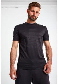 Emporio Armani - T-SHIRT EMPORIO ARMANI. Materiał: bawełna. Długość rękawa: krótki rękaw. Długość: krótkie. Wzór: nadruk
