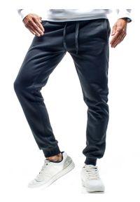 Czarne spodnie dresowe Recea w kolorowe wzory