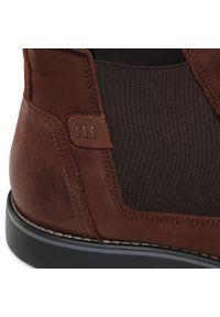 Brązowe buty zimowe Krisbut z cholewką