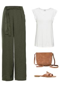 Zielone spodnie bonprix z aplikacjami
