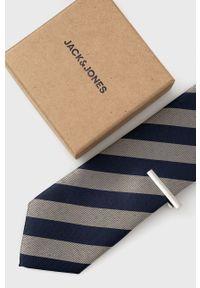 Jack & Jones - Spinka i krawat. Kolor: niebieski. Materiał: materiał