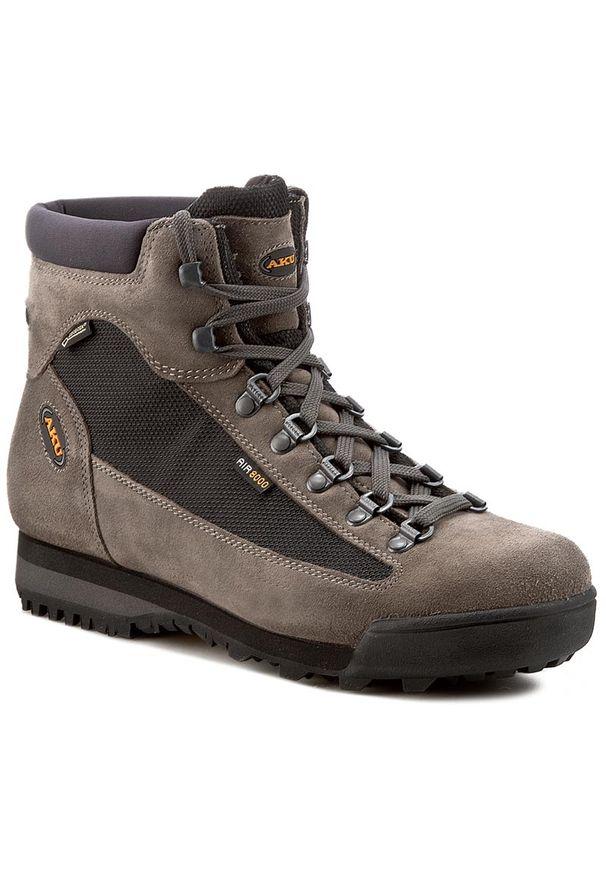 Szare buty trekkingowe Aku trekkingowe, Gore-Tex