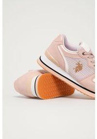 U.S. Polo Assn. - Buty. Nosek buta: okrągły. Zapięcie: sznurówki. Kolor: różowy. Materiał: skóra ekologiczna, syntetyk, materiał, guma. Szerokość cholewki: normalna. Obcas: na obcasie. Wysokość obcasa: niski #2