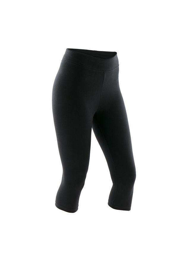 NYAMBA - Rybaczki krótkie fitness Fit+. Kolor: czarny. Materiał: elastan, bawełna, materiał. Długość: krótkie. Sport: fitness