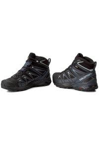Czarne buty trekkingowe salomon Gore-Tex, trekkingowe, na lato