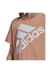 Adidas - Koszulka damska bawełniana adidas Logo H42005. Materiał: bawełna