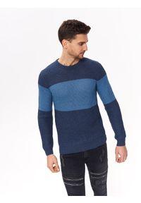 TOP SECRET - Sweter strukturalny. Okazja: na co dzień. Kolor: niebieski. Materiał: dzianina. Sezon: wiosna, lato. Styl: casual