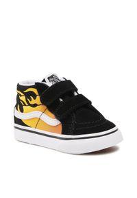 Vans - Sneakersy VANS - Sk8-Mid Reossue V VN0A5DXD99C1 (Hot Blame) Blk/Truewhite. Kolor: czarny. Materiał: zamsz, materiał, skóra