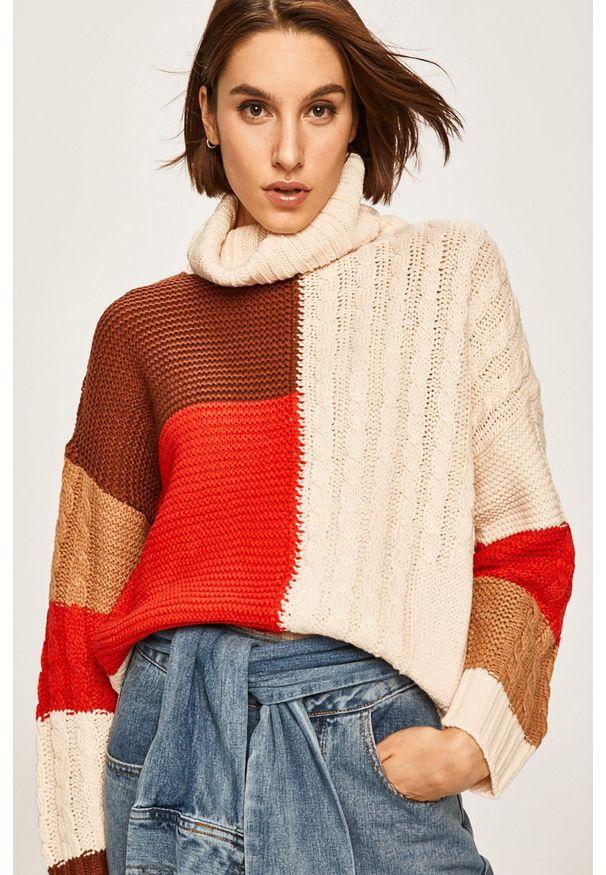 Kremowy sweter ANSWEAR z golfem