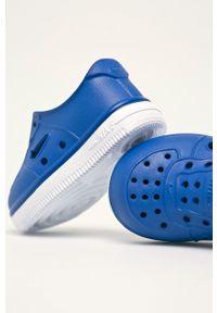 Niebieskie buty sportowe Nike Kids z okrągłym noskiem, z cholewką