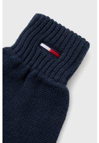 Tommy Jeans - Rękawiczki. Kolor: niebieski. Materiał: bawełna