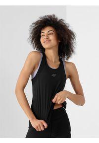 Czarna koszulka sportowa 4f do biegania