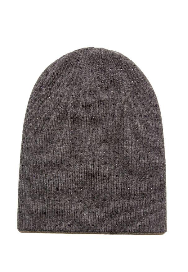 Szara czapka William Sharp elegancka, na zimę