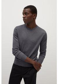 Mango Man - Sweter WILLY. Okazja: na co dzień. Kolor: szary. Długość rękawa: długi rękaw. Długość: długie. Styl: casual