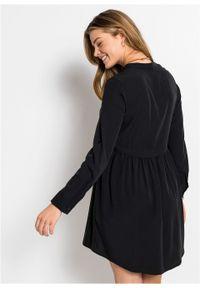 Czarna sukienka bonprix z długim rękawem, mini