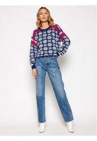 Sweter klasyczny Wrangler w kolorowe wzory