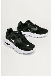 Czarne buty sportowe Nike Sportswear z cholewką, na średnim obcasie, Nike Air Max, na sznurówki