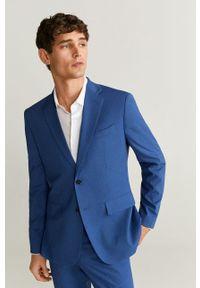 Niebieska marynarka Mango Man elegancka