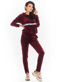 Czerwone spodnie dresowe Awama