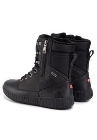 Czarne buty zimowe Pajar z cholewką