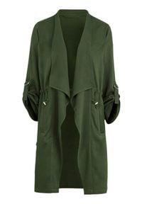 Cellbes Kurtka z kołnierzem szalowym i tasiemką do ściągania khaki female zielony 34/36. Kolor: zielony. Długość rękawa: długi rękaw. Długość: długie