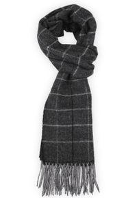 Czarny szalik Lancerto wizytowy, na co dzień, na zimę