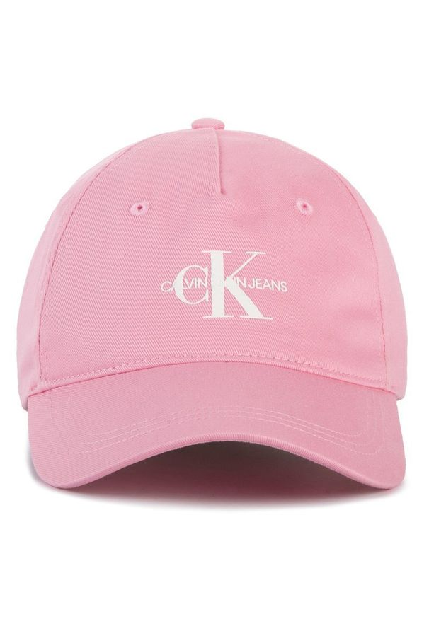 Różowa czapka z daszkiem Calvin Klein Jeans