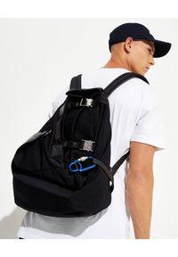 MONCLER - Czarny plecak Thunder. Kolor: czarny. Materiał: materiał