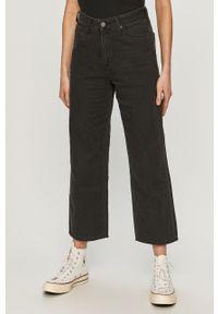 Czarne jeansy loose fit Lee z podwyższonym stanem