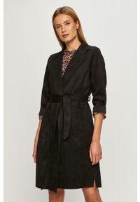 Czarny płaszcz Haily's klasyczny, na co dzień, bez kaptura