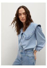 mango - Mango Koszula jeansowa Grace 87049060 Niebieski Regular Fit. Kolor: niebieski. Materiał: jeans