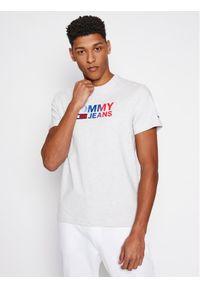 Tommy Jeans T-Shirt DM0DM10235 Szary Regular Fit. Kolor: szary